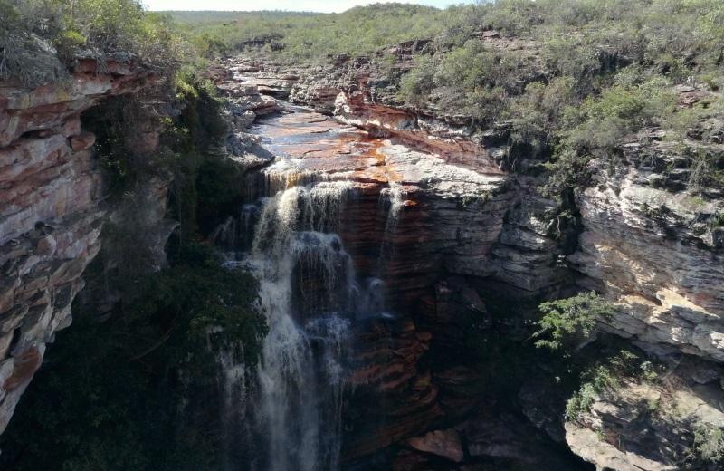 Vista da Cachoeira do Buracão por cima