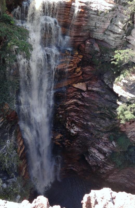 Cachoeira do Buracão por cima na Chapada Diamantina