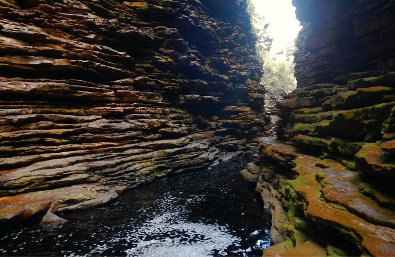 Cânion na Cachoeira do Buracão