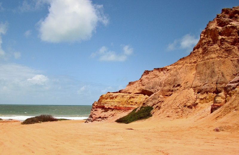 Falésias na Praia do Gunga, Alagoas