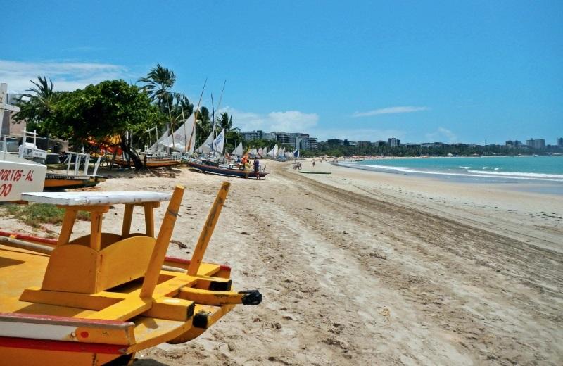 Praia de Pajuçara em Maceió