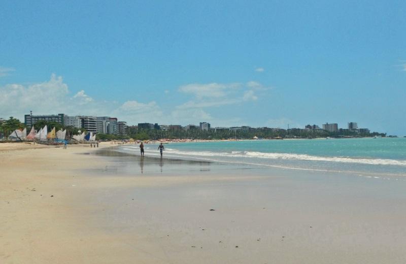 Praia de Pajuçara em Maceió, Alagoas