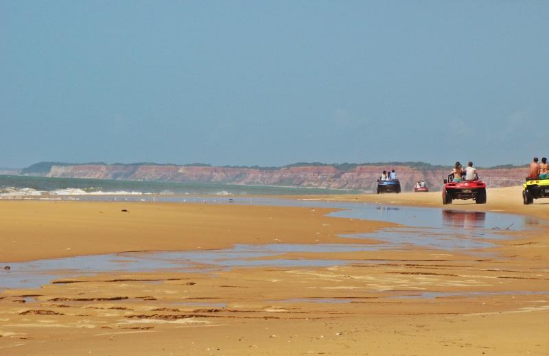 Passeio de buggy na Praia do Gunga, no litoral sul de Alagoas
