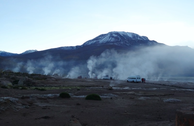 Gêiseres El Tatio no deserto do atacama