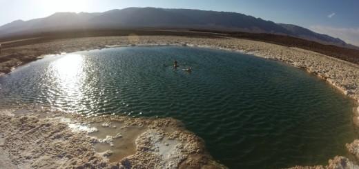 Flutuando nas Lagunas Escondidas, Atacama