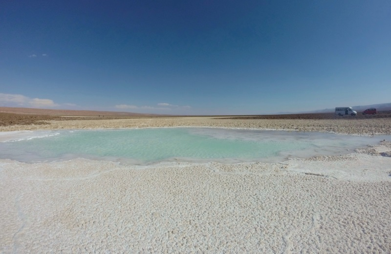 Lagoa de sal, Laguna Escondida, Atacama