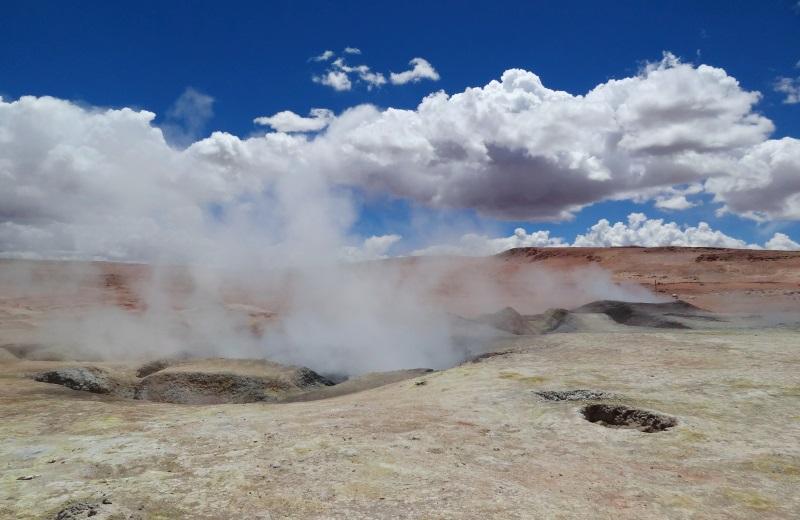 Geysers Sol de Mañana, caminho ao Salar de Uyuni, Bolívia