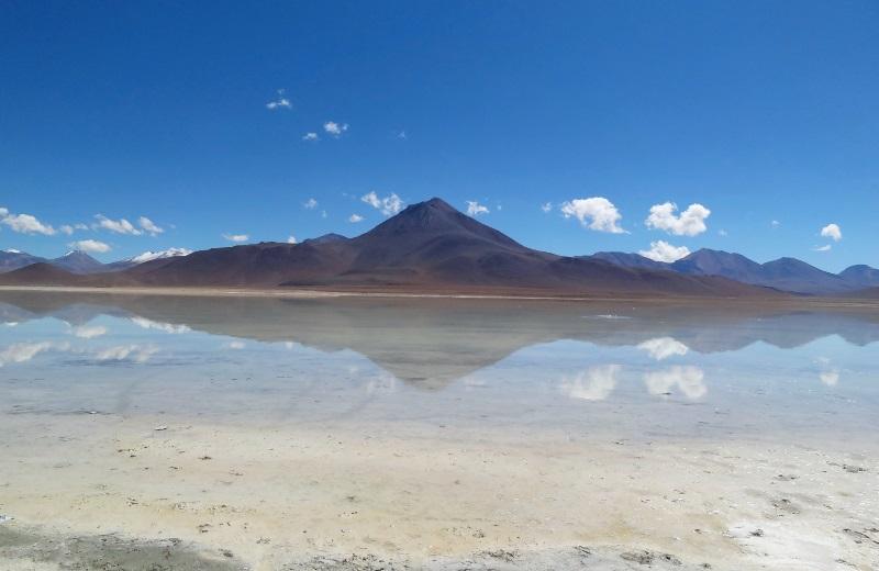 Laguna Blanca no tour ao Salar de Uyuni, Bolívia