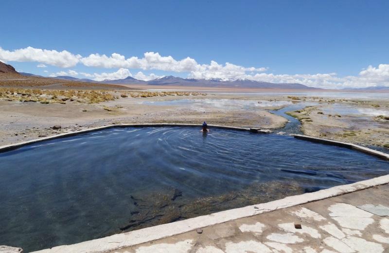 Termas de Polques no tour ao Salar de Uyuni, Bolívia