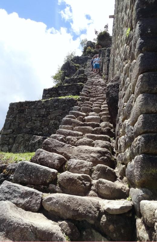 Escadas no Waynapicchu