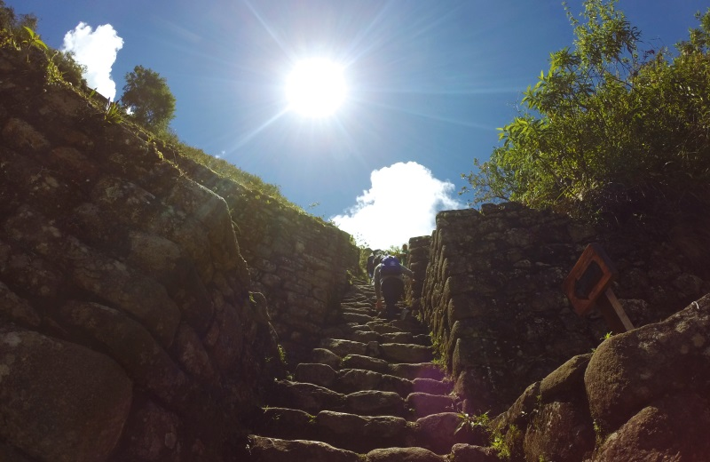 Escadas no topo do Waynapicchu