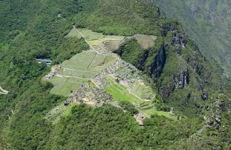 Vista de Machu Picchu do topo do Waynapicchu