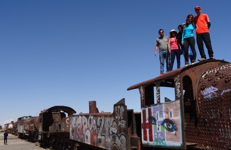 Cemitério de trens no Salar de Uyuni