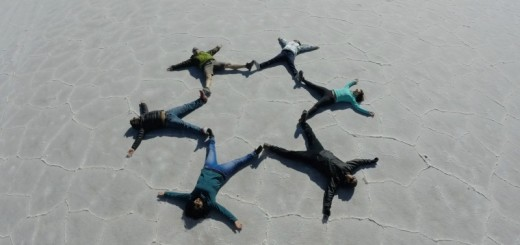 Foto criativa formando uma estrela no Salar de Uyuni