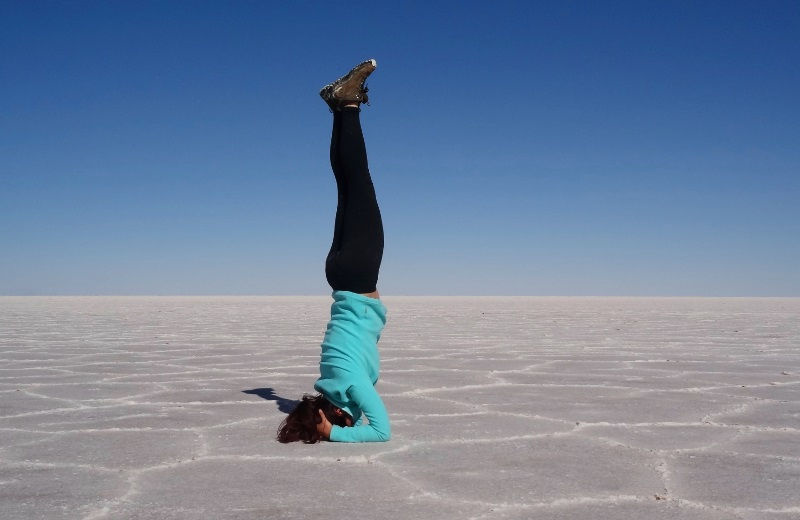 Yoga no Salar de Uyuni