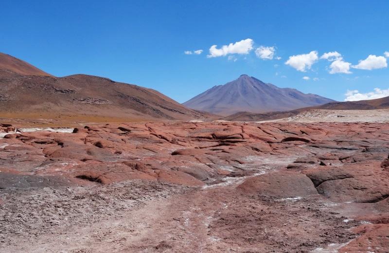 Vulcão Caichinque, Salar de Aguas Calientes, Deserto do Atacama