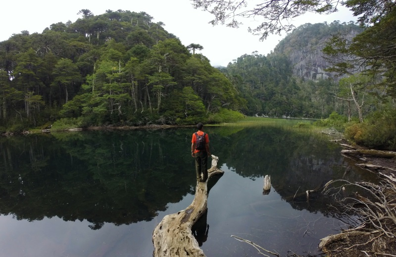 Lago Chico no Parque Nacional Huerquehue