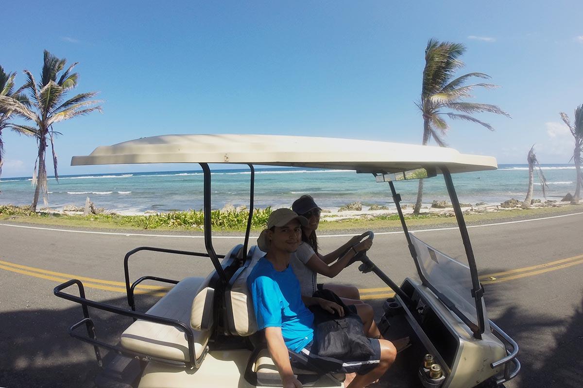 Volta na Ilha de San Andrés em um carrinho de golfe