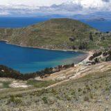 Povoado Challa, visto durante a travessia de norte a sul na Isla del Sol