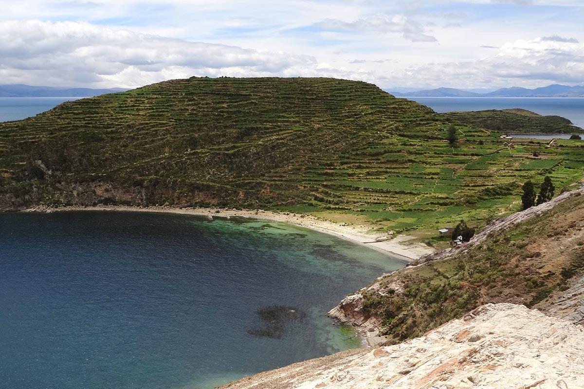 Povoado Challapampa na Isla del Sol, Bolívia
