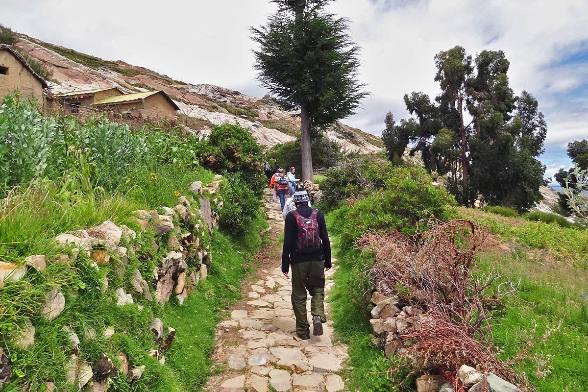 Caminhada em Challapampa, Isla del Sol, Bolívia