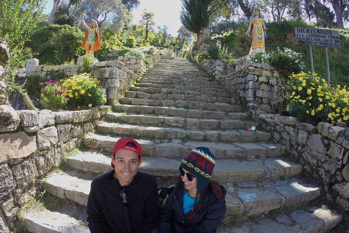 Escalera del Inca em Yumani, Isla del Sol, Bolívia