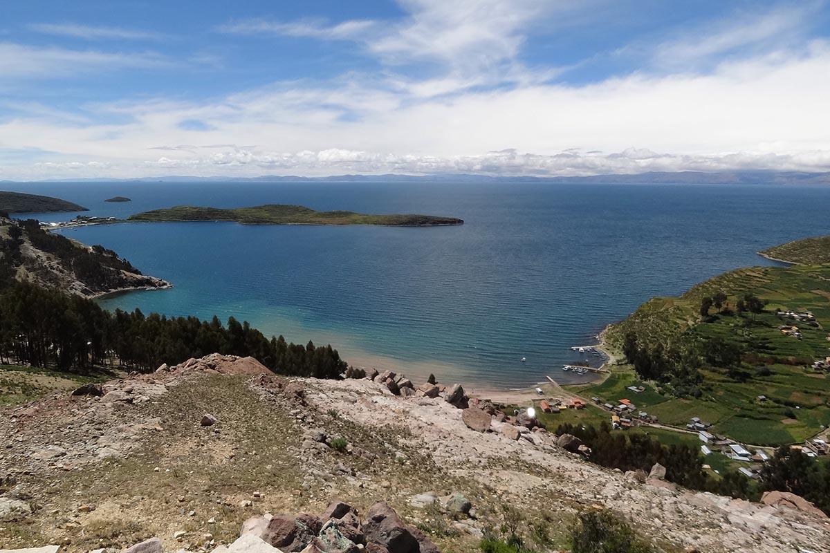 Isla del Sol no Lago Titicaca, Bolívia