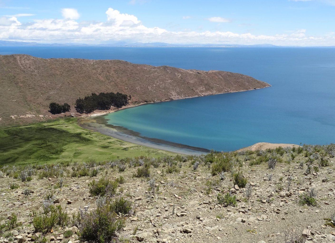 Praia da Isla del Sol, vista durante a caminhada de norte a sul