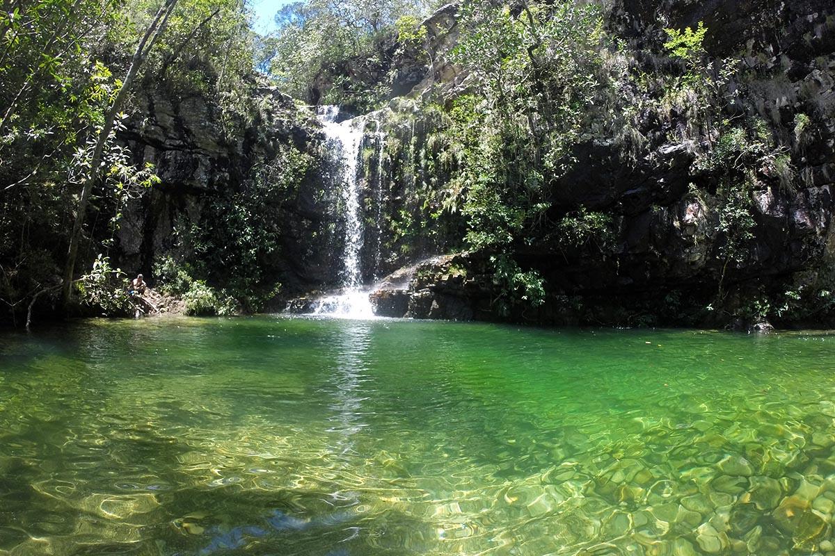 Poço do Sol nas Cachoeiras Loquinhas, Chapada dos Veadeiros