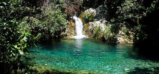 Cachoeira Santa Barbarinha na Chapada dos Veadeiros