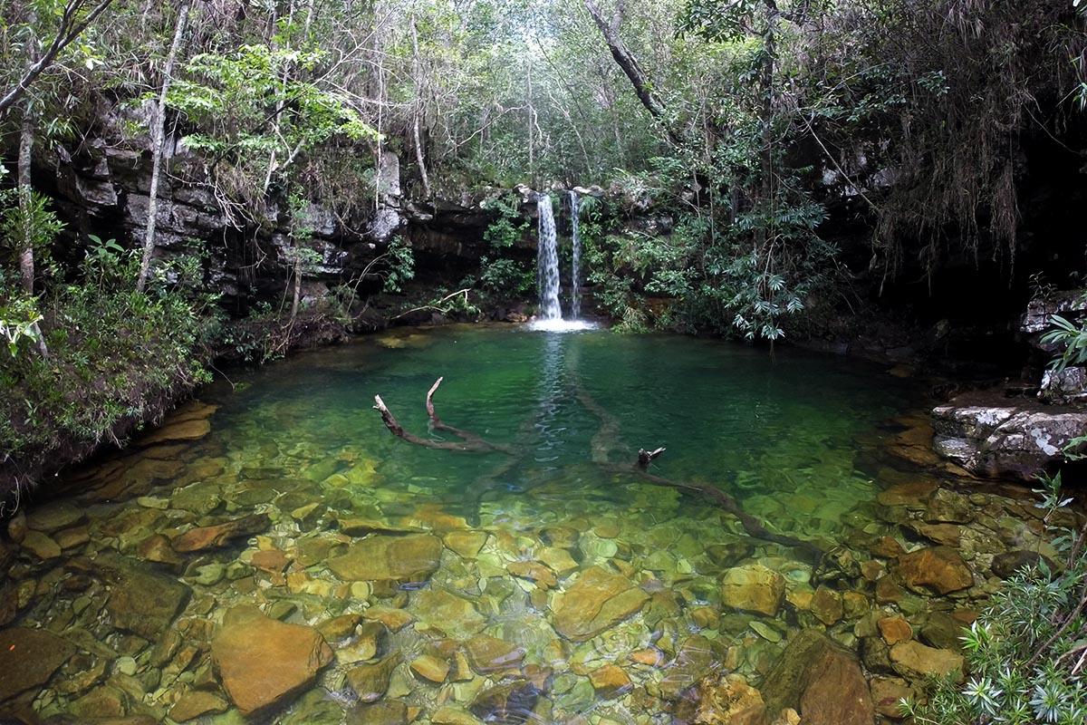 Poço do Pajé nas Cachoeiras Loquinhas, Chapada dos Veadeiros, Goiás
