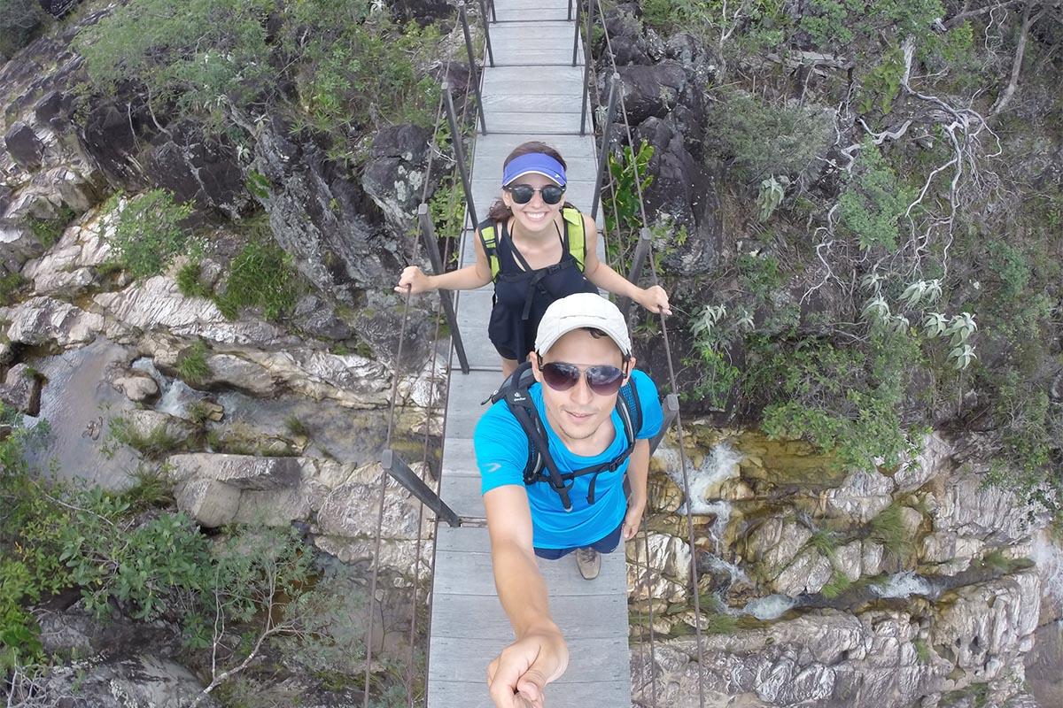 Ponte Suspensa no Parque Nacional da Chapada dos Veadeiros