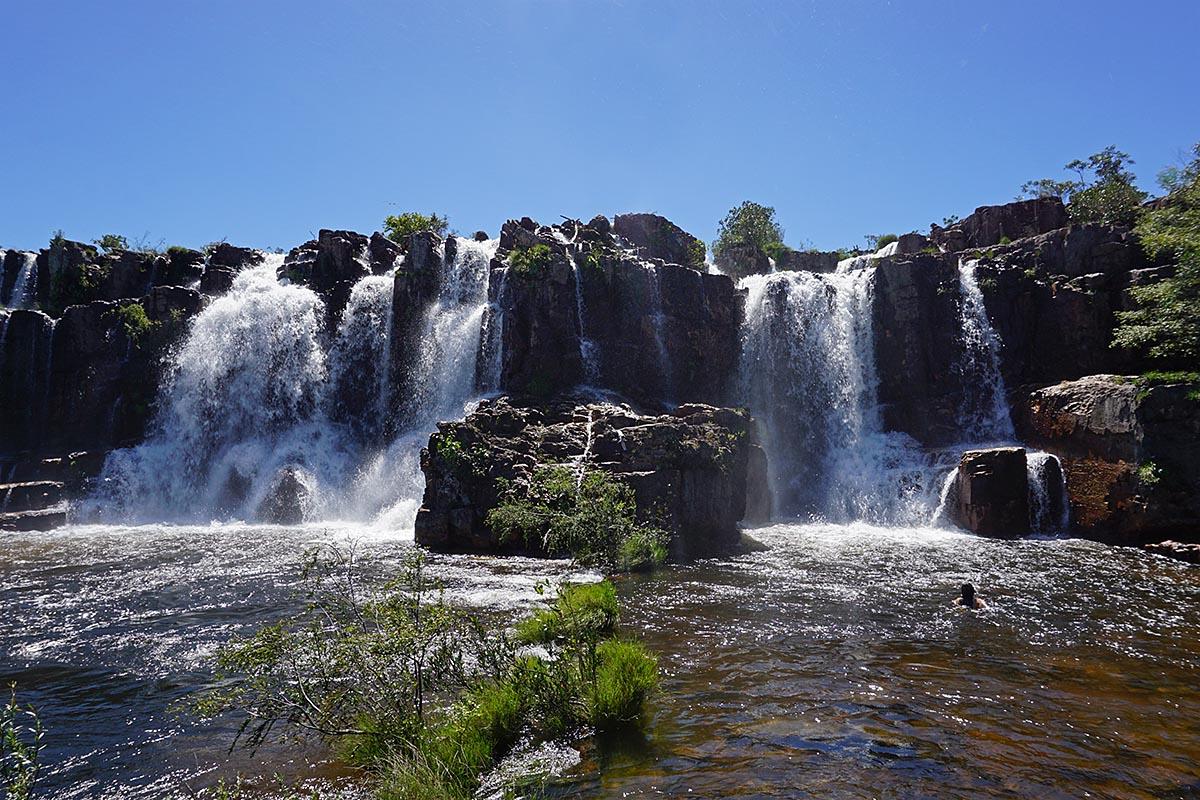 Cachoeira da Muralha, Cataratas dos Couros na Chapada dos Veadeiros
