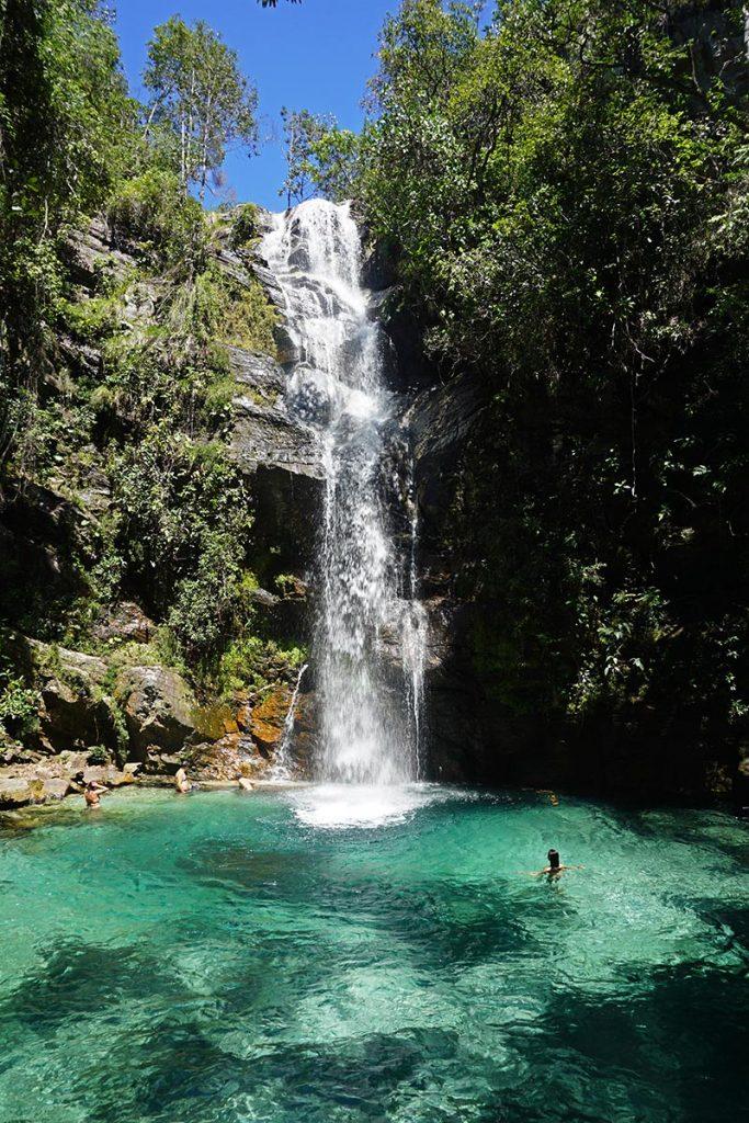 Cachoeira Santa Bárbara na Chapada dos Veadeiros