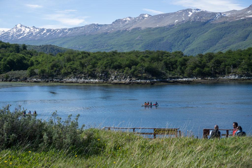 Bahia Lapataia no Parque Nacional Tierra del Fuego em Ushuaia, Argentina
