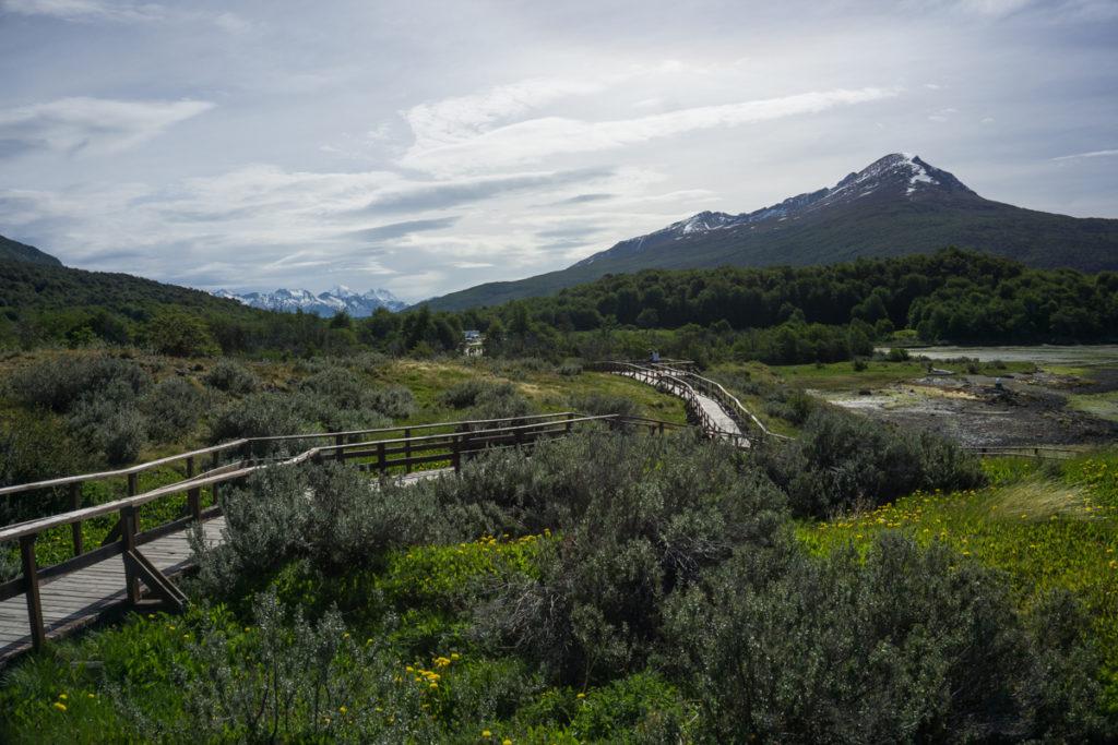 Bahia Lapataia no Parque Nacional Tierra del Fuego em Ushuaia, ArgentinaParque Nacional Tierra del Fuego em Ushuaia, Argentina