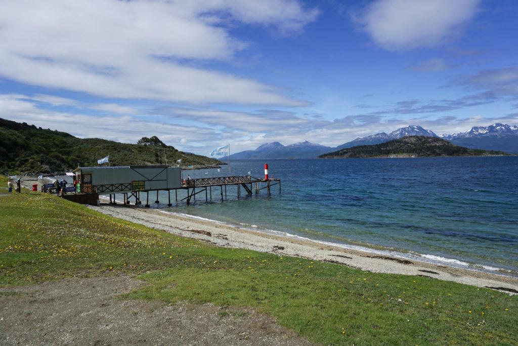 Correio mais austral do mundo na Bahia Ensenada, Parque Nacional Tierra del Fuego em Ushuaia, ArgentinaParque Nacional Tierra del Fuego em Ushuaia, Argentina