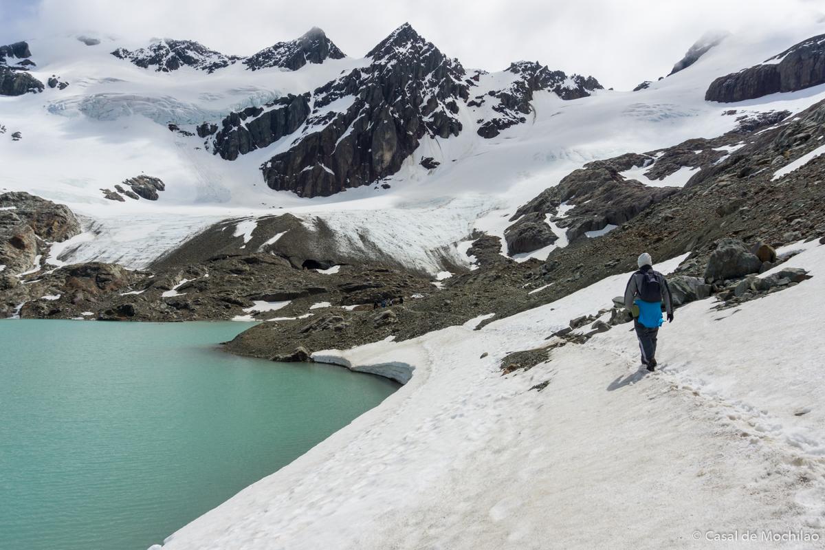 Laguna de los Tempanos e Glaciar Vinciguerra em Ushuaia, Patagônia Argentina