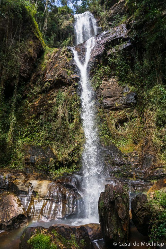 Cachoeira do Y no Complexo da Cachoeira do Arco-íris em Lima Duarte, Minas Gerais