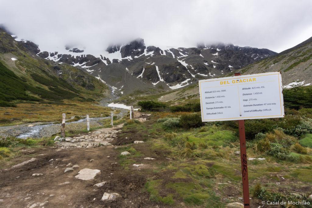 Trilha para o Glaciar Martial em Ushuaia, Patagônia Argentina